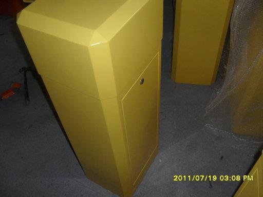 黄色道闸外壳